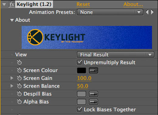 After Effects Keylight