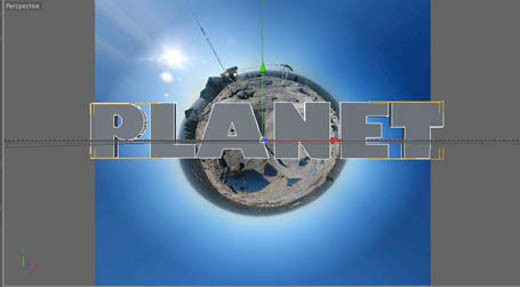 Cinema 4D Planet Text