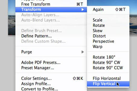 Photoshop flip vertical