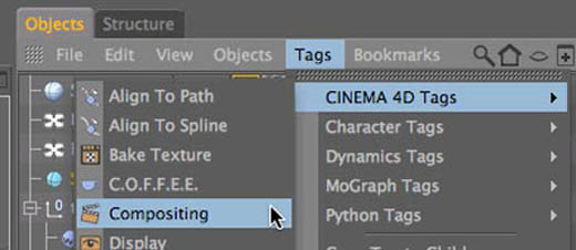 Cinema 4D Compositing tag