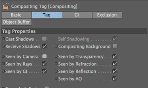 Compositing tag settings