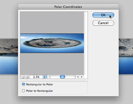 Photoshop Polar Coordinates
