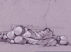 Woman Laying Sketch