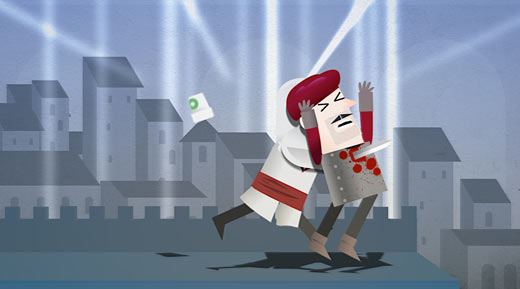 Assassins Creed 3 Over Logging cartoon animation