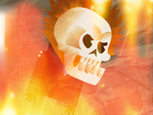 ghost rider abstract art cartoon animation