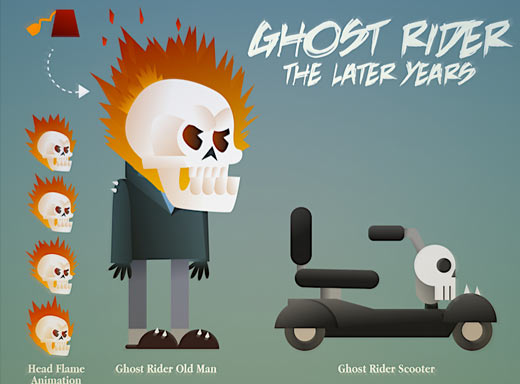 ghost rider character design illustration