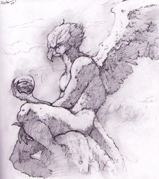 Gryphon Pencil Sketch