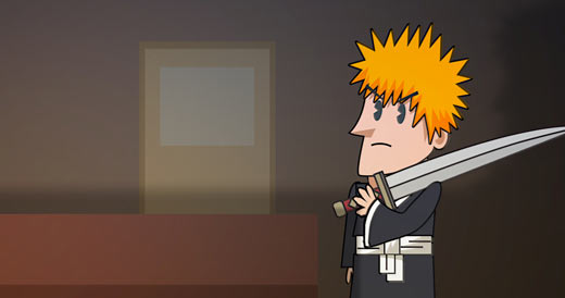 bleach vs sixth sense parody manga cartoon