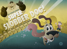 super slobber dog main menu game