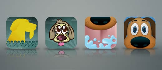 Super Slobber Dog iOS game icons dog iPhone iPad