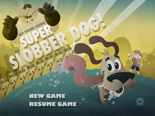 super slobber dog ios game main menu