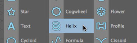 Cinema 4D Helix