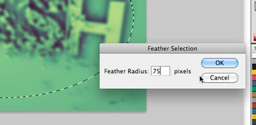 Photoshop Feather Settings