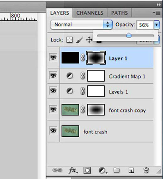 Font Crash Final Photoshop Layers