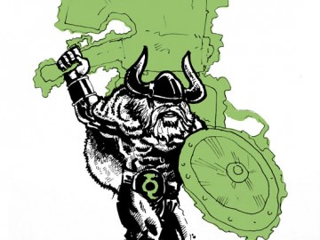 Green Lantern Viking Warrior