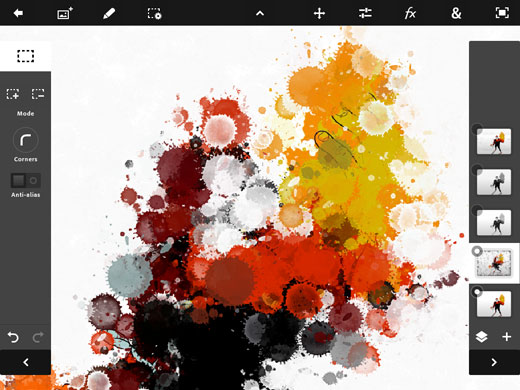 Photoshop Touch Splatter