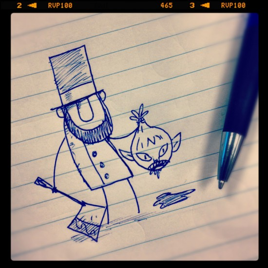 Abraham Lincoln Vampire Hunter doodle