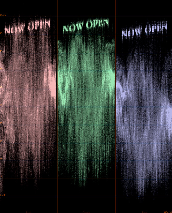 Final Cut Pro waveform art
