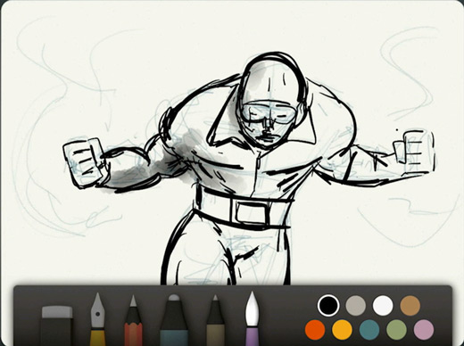 iPad Paper App Super Hero Tutorial