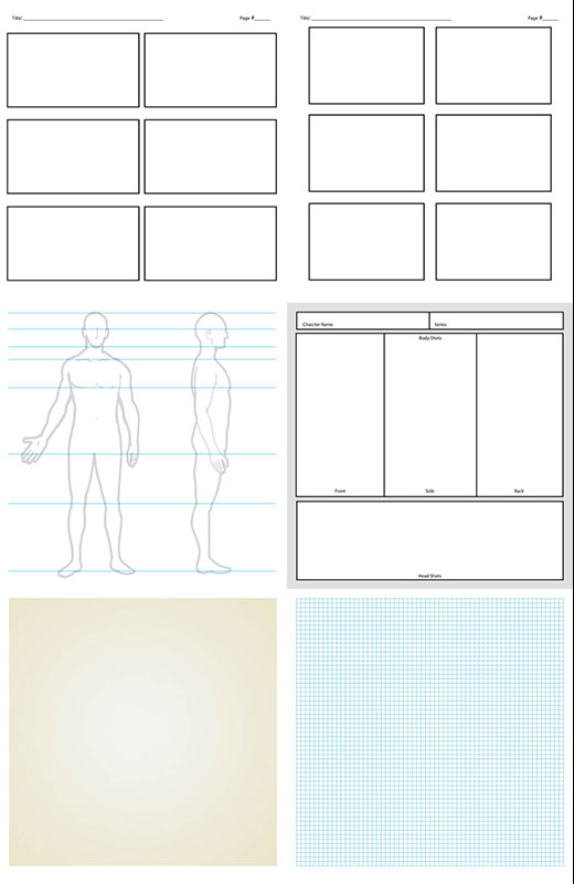Adobe Ideas Templates storyboard