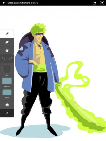 Adobe Ideas Green Lantern Samurai