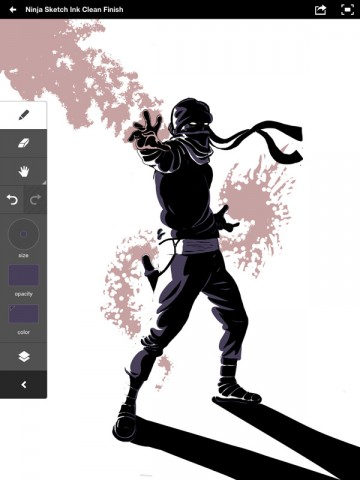 Adobe Ideas Zombie Ninja Illustration
