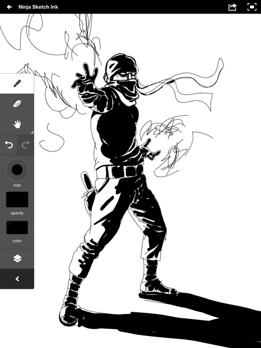 Adobe Ideas Zombie Ninja Sketch