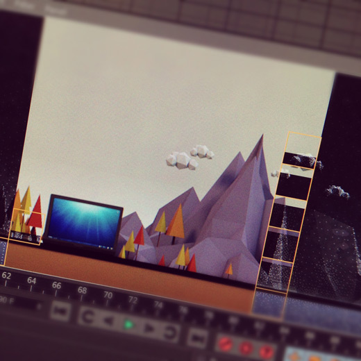 Low Poly Mountains Cinema 4D