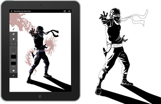 Adobe Ideas Zombie Ninja concepts