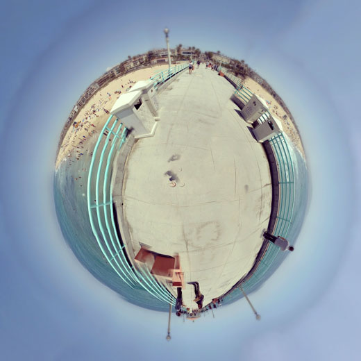 California Beach 360 Stereographic