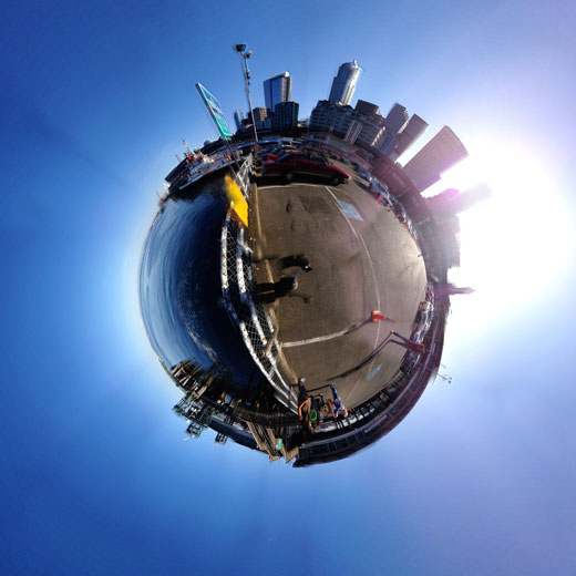 360 Stereographic Seattle Pier