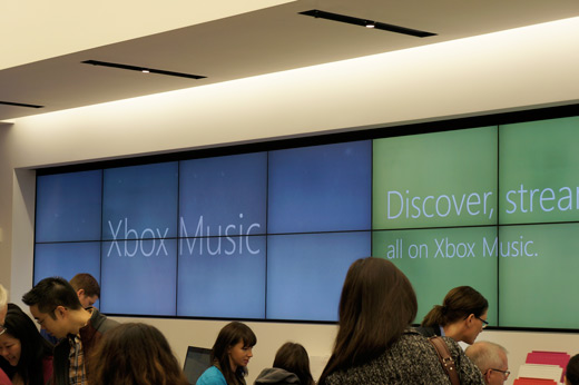 Xbox Music Microsoft Store Video Wall