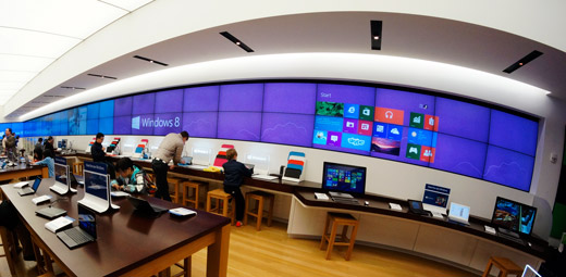Microsoft Store Windows 8 motion graphic
