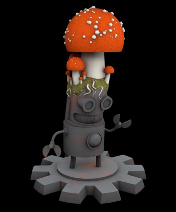 Fungus Bot toy design
