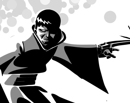 Adobe Ideas noir samurai