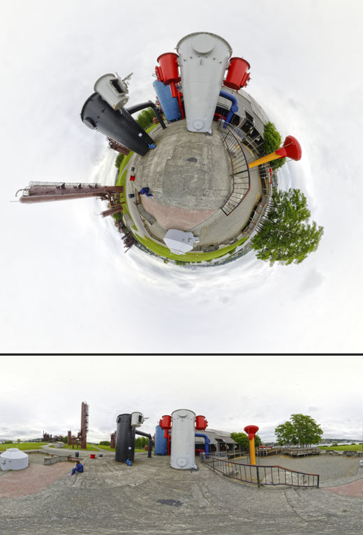 Gasworks Park tiny planet