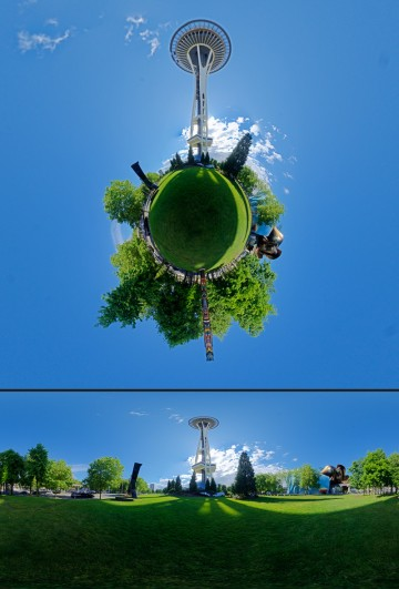 Space Needle tiny planet